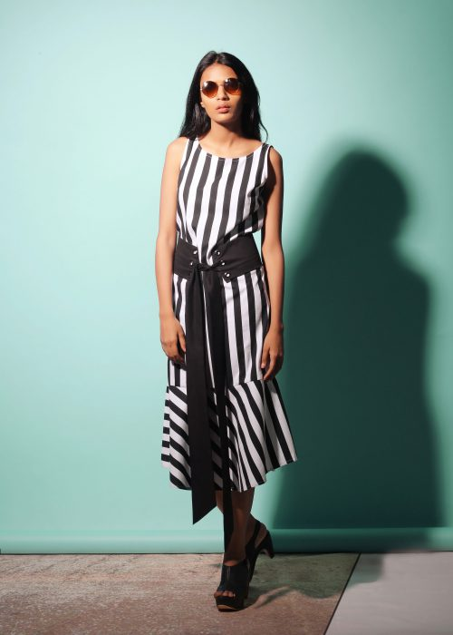 Echo Belted Stripe Dress (SKU: ES1703)