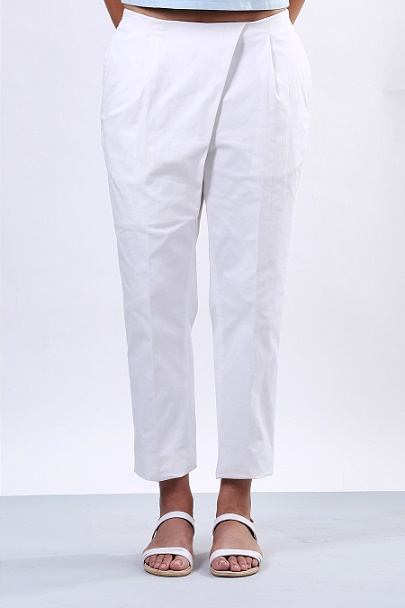 Echo White Overlap Pants (SKU:EC10)