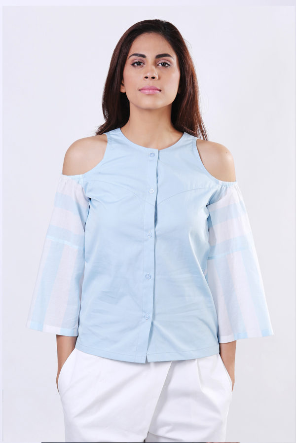 Echo Cold Shoulder Shirt (SKU : EC01)