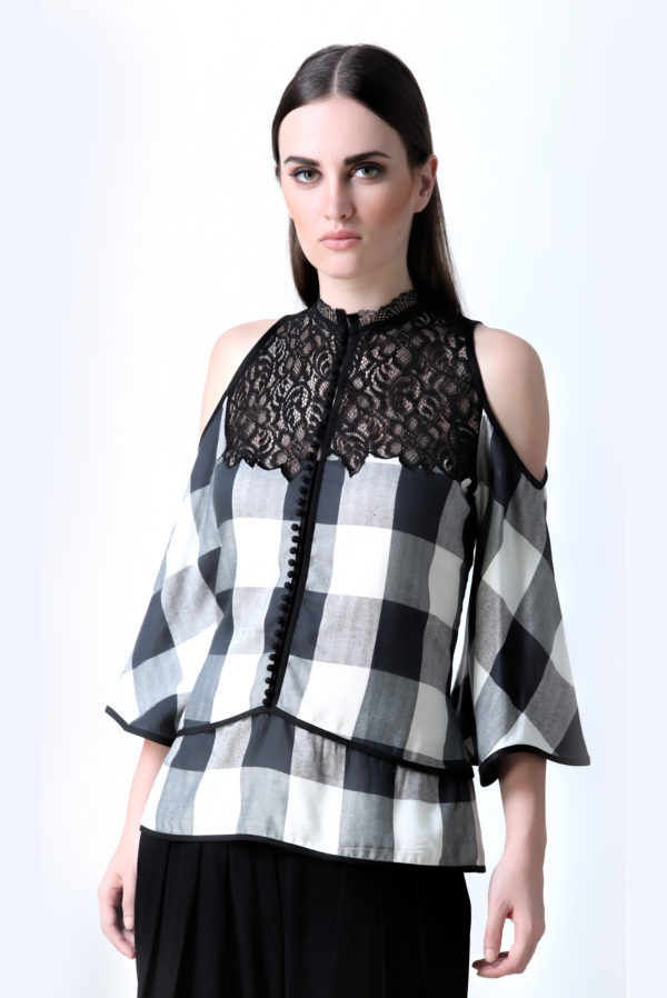Echo Checked Top(SKU : Ech09)