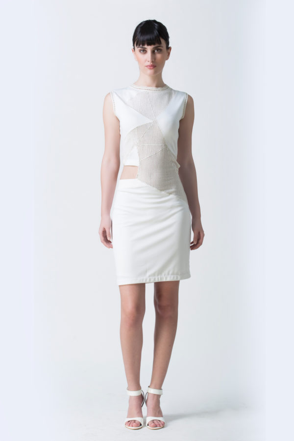 white side cutout dress (SKu:Ech02)