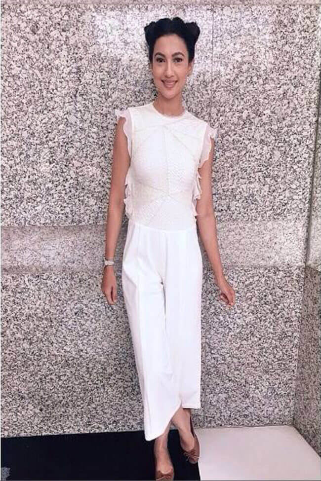 white cropped jumpsuit