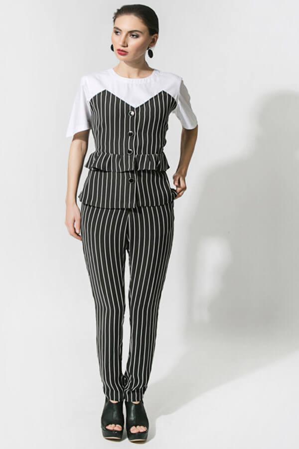 Stripe Blazer Style Top (SKU:ES1803)