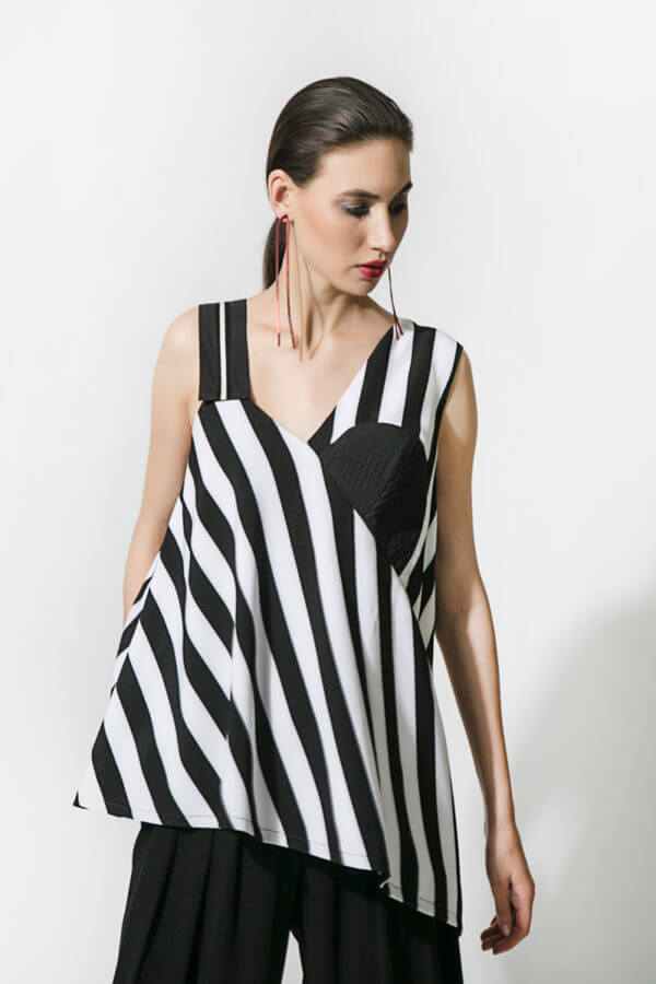 Asymmetrical Stripe Top (SKU : ES1815)