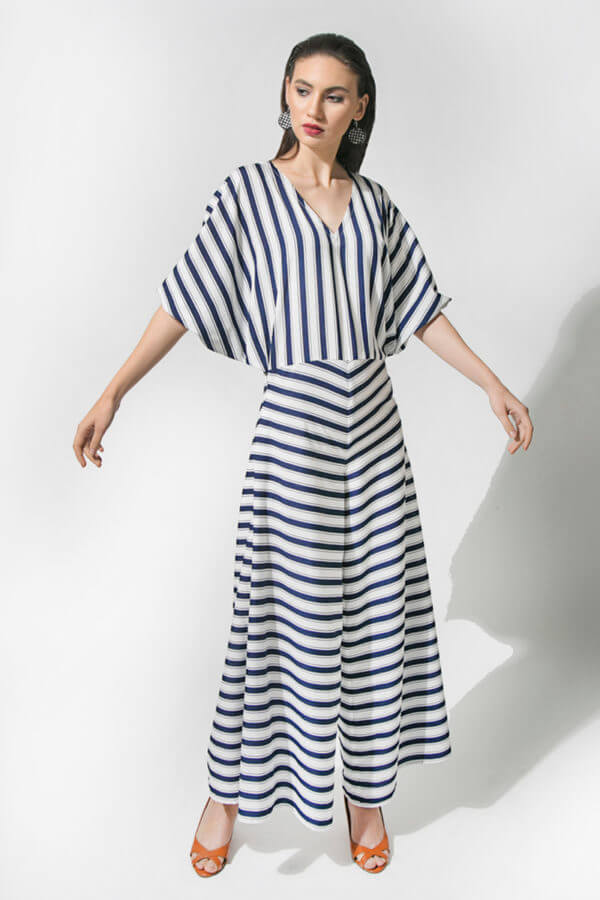 Blue Stripe Jumpsuit (SKU : ES1817)