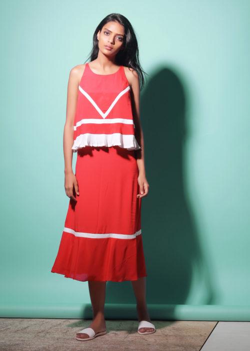 Echo Jet Set red Dress (SKU:ESES1712)