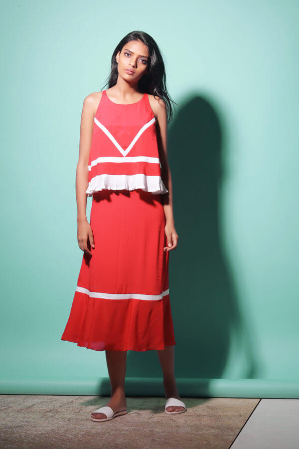 Echo Jet Set red Dress (SKU:ESES1712)