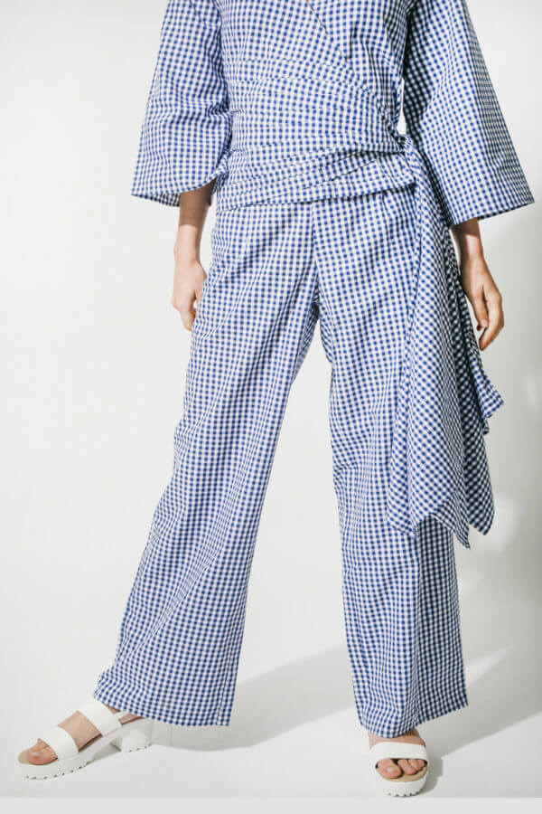Blue gingham Pants (SKU : ES1814)