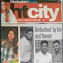 Gauhar khan in our Echo checked top featured in ht city