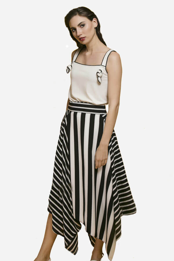Echo Mix Stripe Skirt